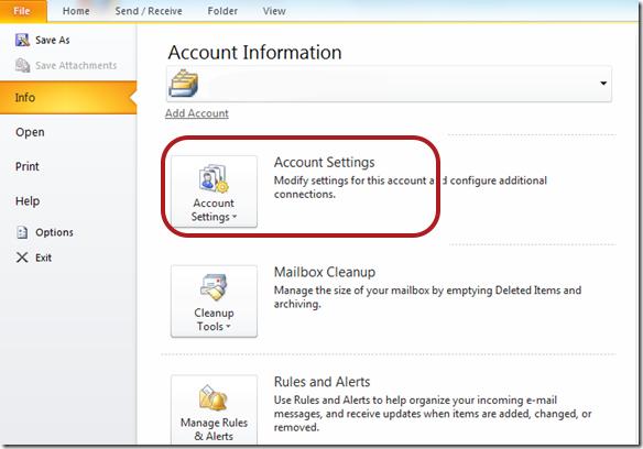 Outlook 2010 troubleshooting