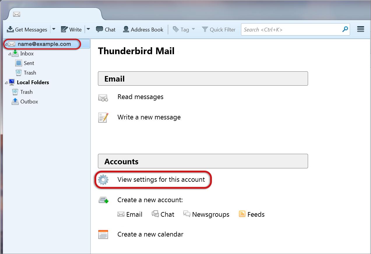 Thunderbird email troubleshooting