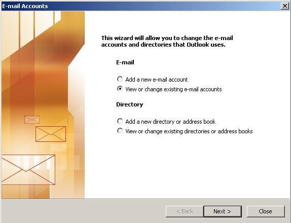 Outlook 2002 / 2003 wizzard